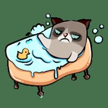 Grumpy Cute Cat sticker #15734582