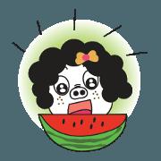 สติ๊กเกอร์ไลน์ A Little Pig named Nippi Daily Animated