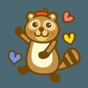 สติ๊กเกอร์ไลน์ Daily raccoon dog sticker