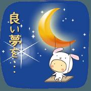 สติ๊กเกอร์ไลน์ animal onesie ~Good Morning&Night~!!