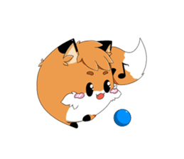 kawaiiNihongo - Fox Stickers sticker #15745936