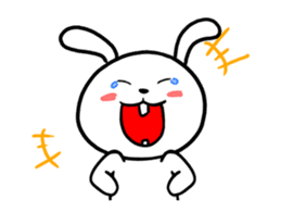 White Weird Rabbit (Animated) sticker #15746509