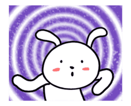 White Weird Rabbit (Animated) sticker #15746521