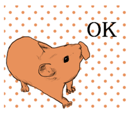 Multicolored hamster sticker #15751946