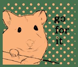 Multicolored hamster sticker #15751953