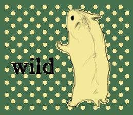 Multicolored hamster sticker #15751956