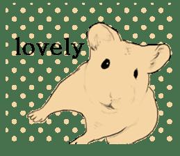 Multicolored hamster sticker #15751959
