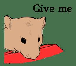 Multicolored hamster sticker #15751960
