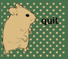 Multicolored hamster sticker #15751962