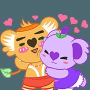 สติ๊กเกอร์ไลน์ Get Movin! Purple Koala- Vol.1 (English)