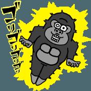 สติ๊กเกอร์ไลน์ Gorilla communication REACTION