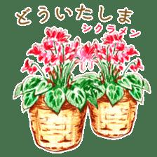 words flower shop sticker #15763584