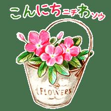 words flower shop sticker #15763587