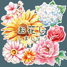 words flower shop sticker #15763603