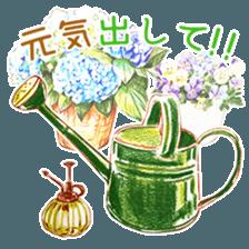 words flower shop sticker #15763609