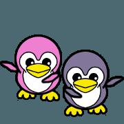สติ๊กเกอร์ไลน์ Penguin blue & Penguin pink