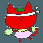 สติ๊กเกอร์ไลน์ Ayako's Tomato Cat