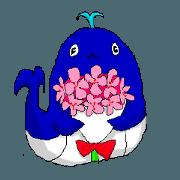 สติ๊กเกอร์ไลน์ cute kujira