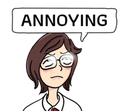 Cute Girl Talk (English Version) sticker #15780764