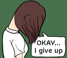 Cute Girl Talk (English Version) sticker #15780771