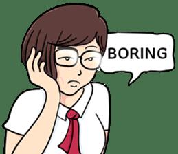 Cute Girl Talk (English Version) sticker #15780772