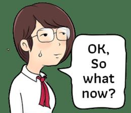 Cute Girl Talk (English Version) sticker #15780780