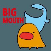 สติ๊กเกอร์ไลน์ BIG MOUTH!!
