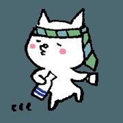 สติ๊กเกอร์ไลน์ Hard drinker cat