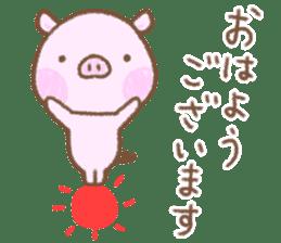 Baby pig. sticker #15791719