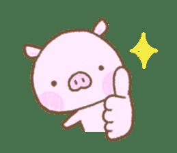 Baby pig. sticker #15791722