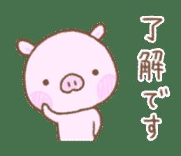 Baby pig. sticker #15791724