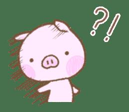 Baby pig. sticker #15791736