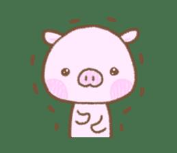 Baby pig. sticker #15791737