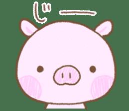 Baby pig. sticker #15791739