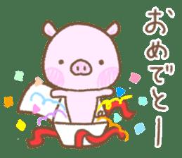 Baby pig. sticker #15791745