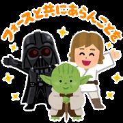 สติ๊กเกอร์ไลน์ Star Wars Stickers by Takashi Mifune