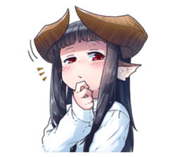 Horned girl's collection Vol.3 sticker #15804556