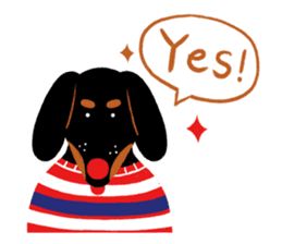 Red Nose Dog sticker #15823830