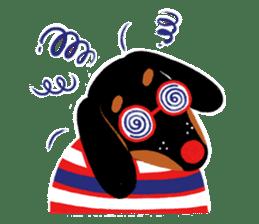 Red Nose Dog sticker #15823833