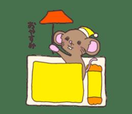 rat and monkey sticker #15826195