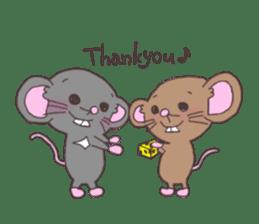 rat and monkey sticker #15826196