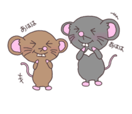 rat and monkey sticker #15826200