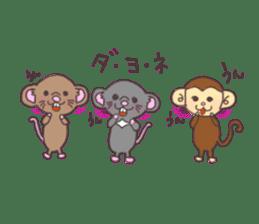 rat and monkey sticker #15826204