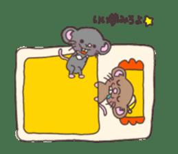 rat and monkey sticker #15826210