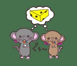 rat and monkey sticker #15826217