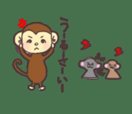 rat and monkey sticker #15826222