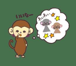 rat and monkey sticker #15826225