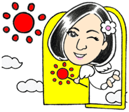 Chinese(Simplified) man ,angel ,couple sticker #15845891