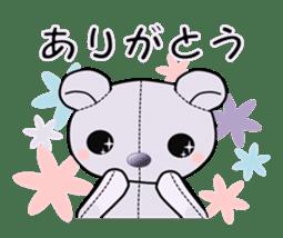 the Purple Teddy Bear. sticker #15848368