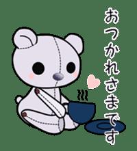 the Purple Teddy Bear. sticker #15848379